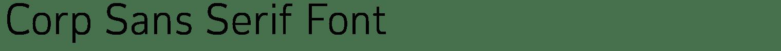 Corp Sans Serif Font