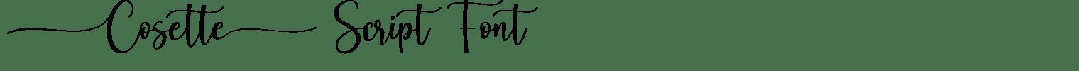 Cosette Script Font