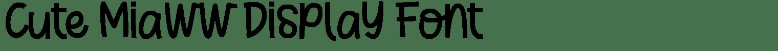 Cute Miaww Display Font
