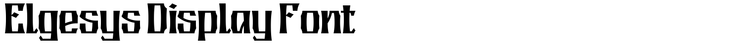 Elgesys Display Font