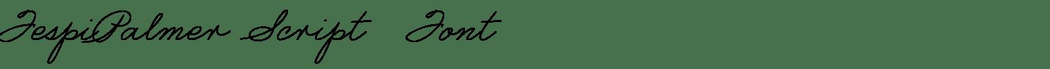 FespiPalmer Script  Font