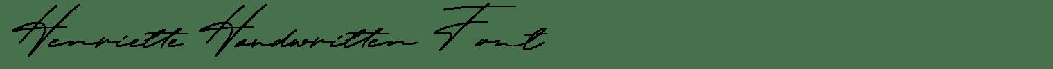 Henriette Handwritten Font