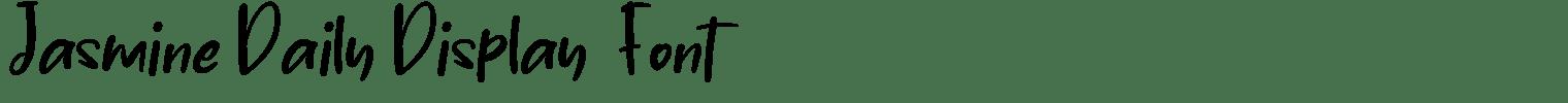 Jasmine Daily Display  Font
