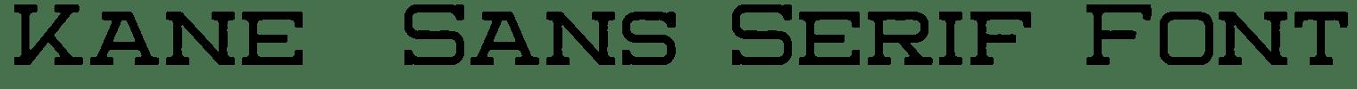Kane  Sans Serif Font