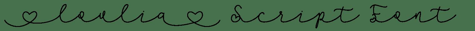 Lovlia Script Font