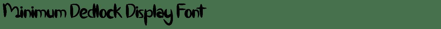 Minimum Dedlock Display Font