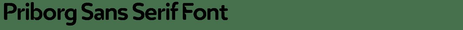 Priborg Sans Serif Font