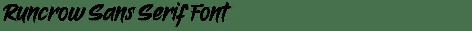 Runcrow Sans Serif Font