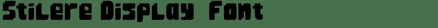 Stilere Display  Font