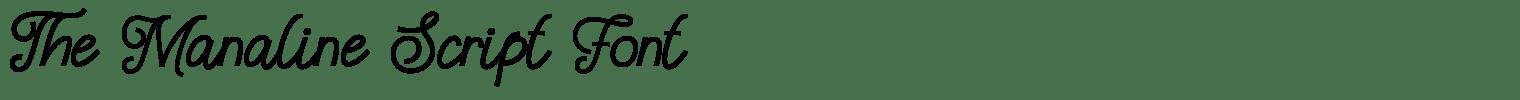 The Manaline Script Font
