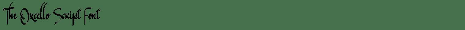 The Oxcello Script Font