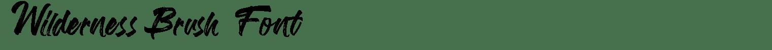 Wilderness Brush Font