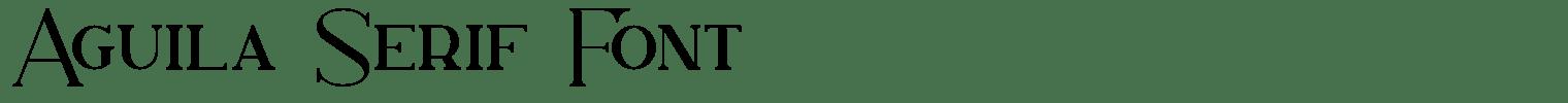 Águila Serif Font