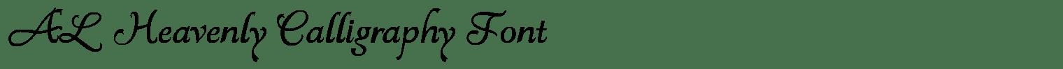 AL Heavenly Calligraphy Font