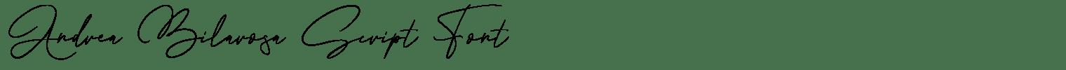 Andrea Bilarosa Script Font