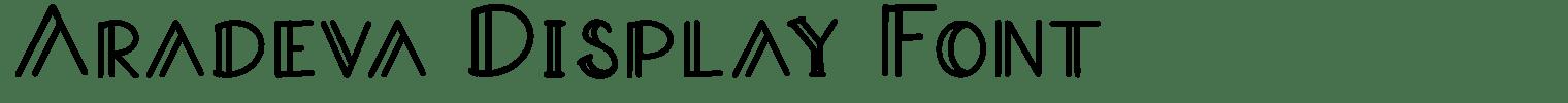 Aradeva Display Font
