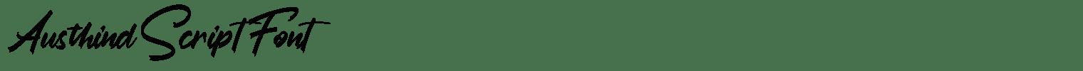 Austhind Script Font