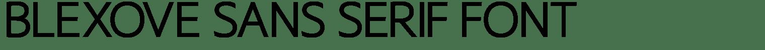 Blexove Sans Serif Font