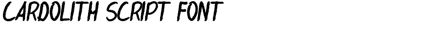 Cardolith Script Font