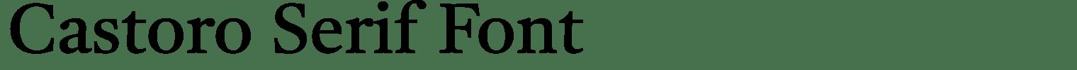 Castoro Serif Font