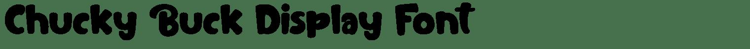 Chucky Buck Display Font