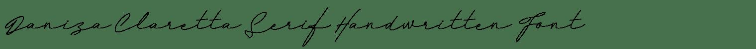 Daniza Claretta Serif Handwritten Font