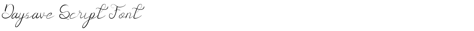 Daysave Script Font