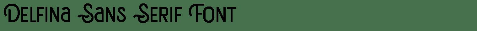 Delfina Sans Serif Font