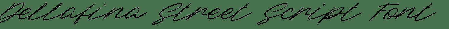 Dellafina Street Script Font