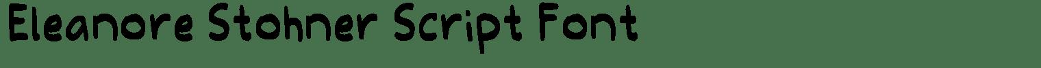 Eleanore Stohner Script Font