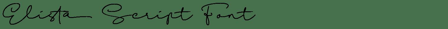 Elista Script Font