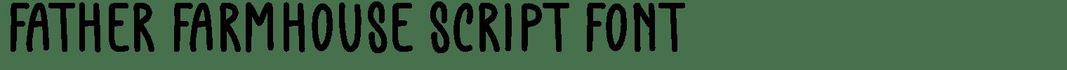 Father Farmhouse Script Font