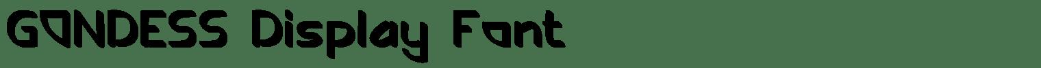 GONDESS Display Font