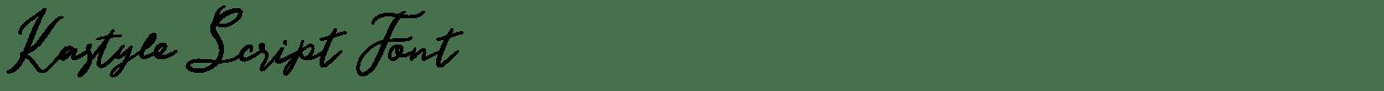 Kastyle Script Font