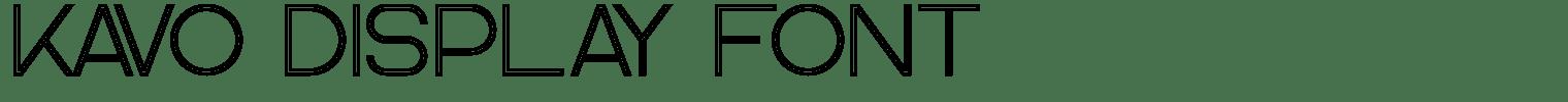 Kavo Display Font