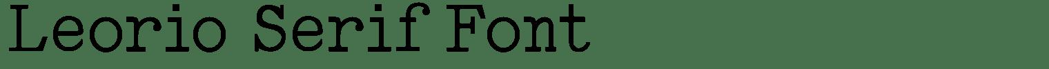 Leorio Serif Font