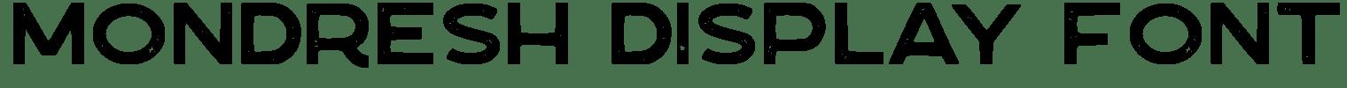 Mondresh Display Font