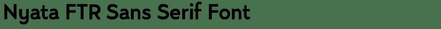 Nyata FTR Sans Serif Font