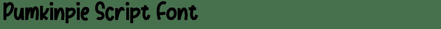 Pumkinpie Script Font