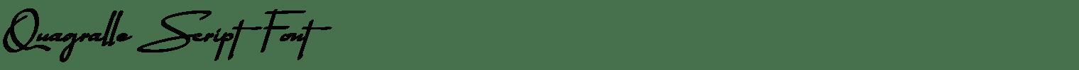 Quagralle Script Font