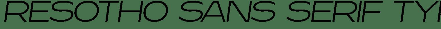 Resotho Sans Serif Typeface