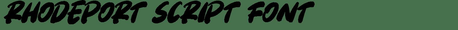 Rhodeport Script Font