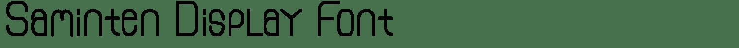 Saminten Display Font