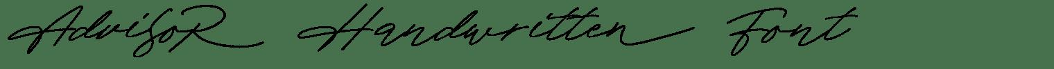 Advisor Handwritten Font