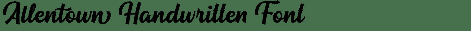 Allentown Handwritten Font