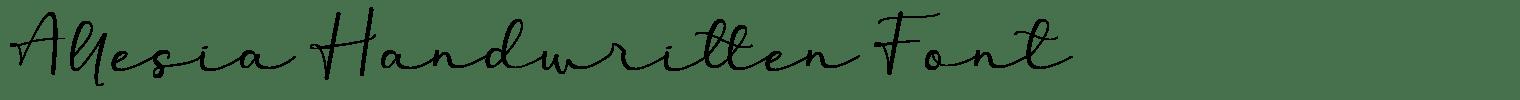 Allesia Handwritten Font