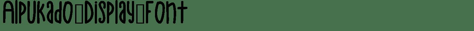 Alpukado Display Font