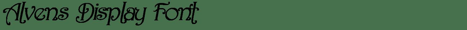 Alvens Display Font