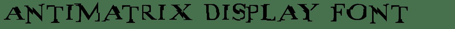 Antimatrix Display Font