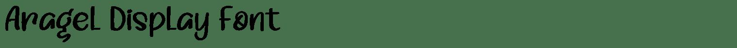 Aragel Display Font